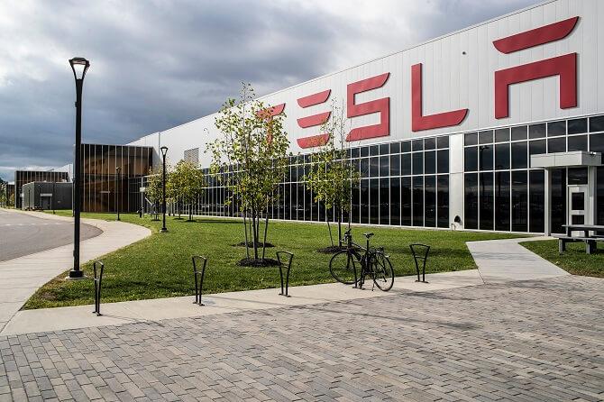 Gigatovárna 2 společnosti Tesla ve městě Buffalo, stát New York
