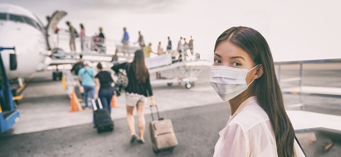 strach před koronavirem na letišti