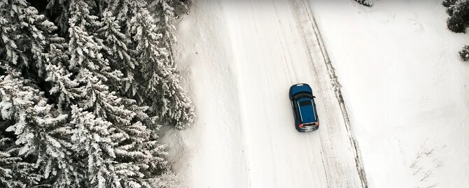 jízda s elektromobilem v zimě