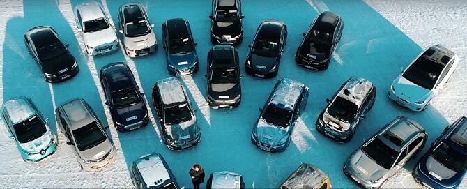 elektromobily v zimě