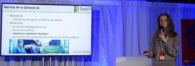 přednáška Olgy Afanasjevy z Good AI