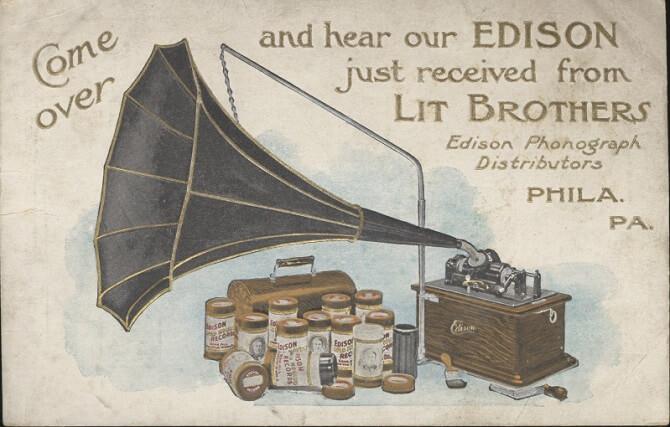 fonograf, vynález Thomase Alvy Edisona