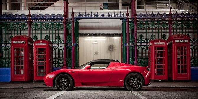 Tesla Roadster 2.5 ve Velké Británii