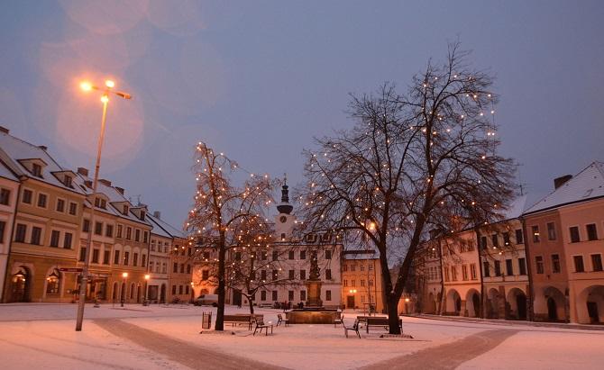 vánoční výzdoba v Hradci Králové
