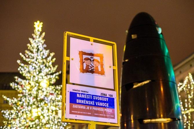 Vánoční stromek v Brně a brněnský orloj