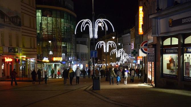 vánoční osvětlení v Karlových Varech