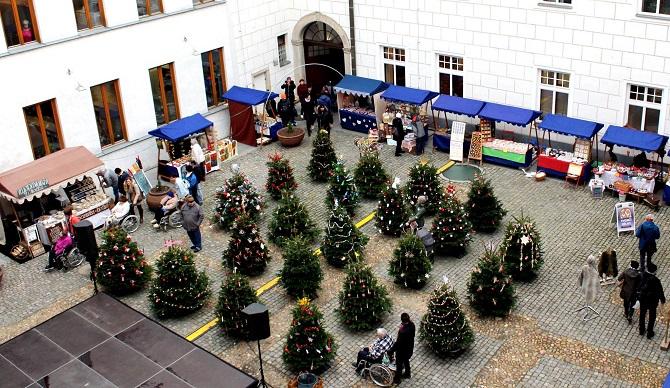 vánoční trhy v Českých Budějovicích