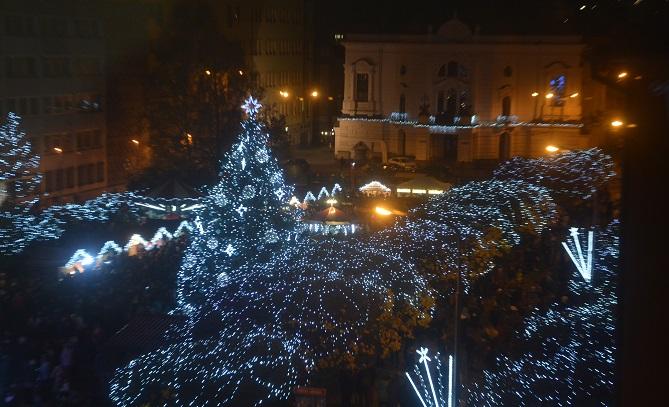 vánoční strom v Ústí nad Labem