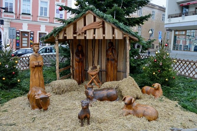 dřevěný betlém ve Znojmě