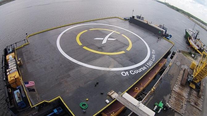 ASDS Autonomní přistávací plošina Of Course I Still Love You od SpaceX