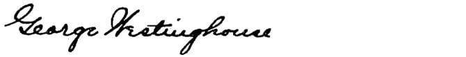 George Westinghouse podpis