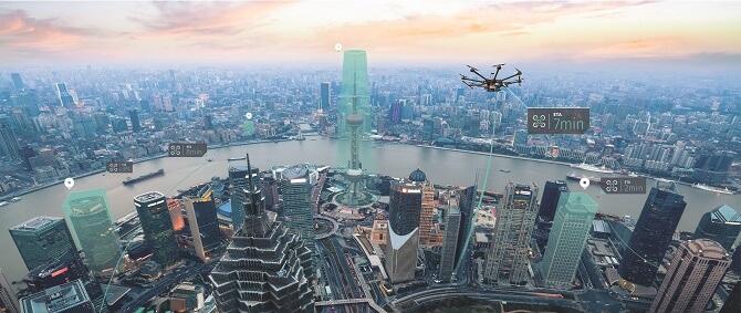 mapy pro drony od HERE a Unifly