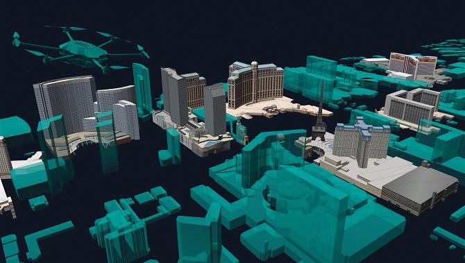 3D mapa pro let dronu