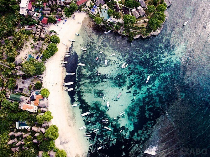 pohled na pláž z dronu DJI Phantom 3