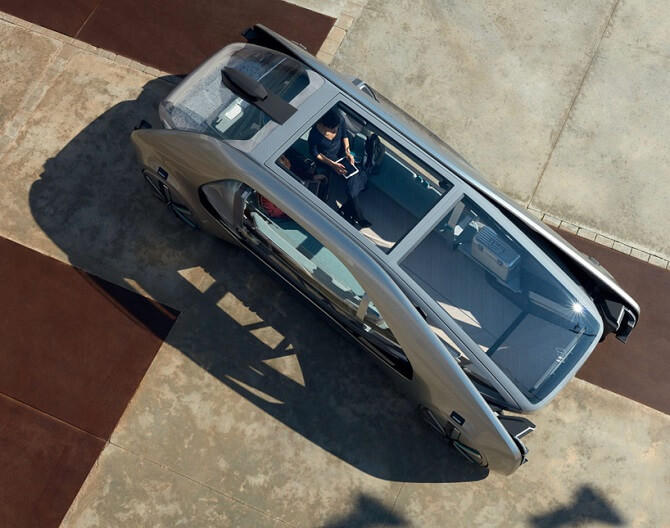 Renault EZ-GO pohled zvrchu