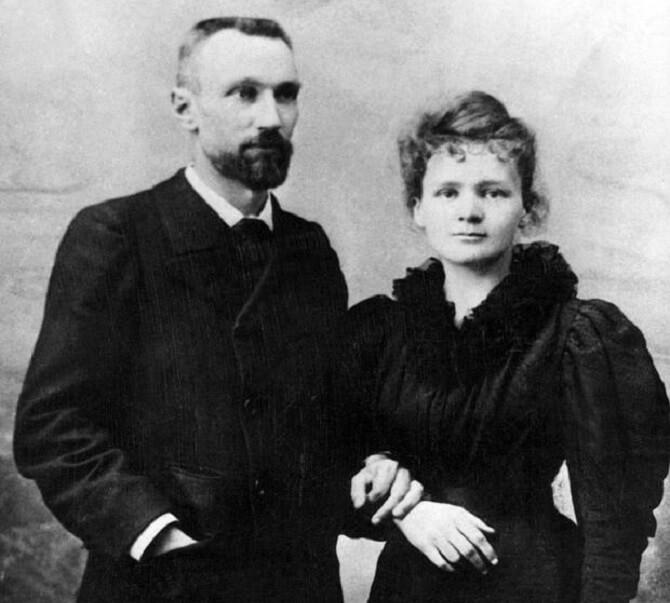 Marie Curie-Skłodowská a Pierre Curie