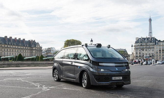 robotický taxík Autonom Cab v Paříži