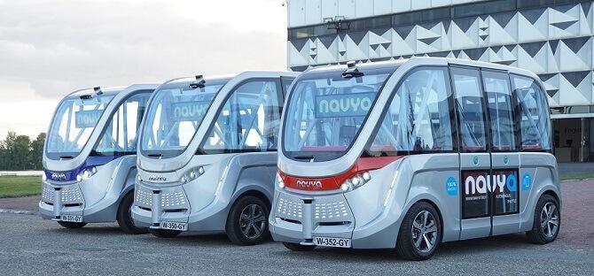 autonomní vozy Navya pro městskou přepravu