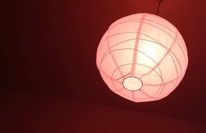 IKEA Trådfri žárovka v červené