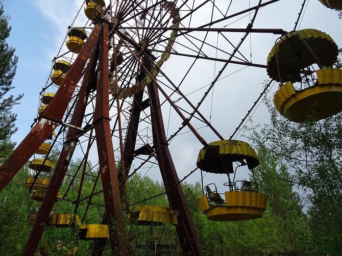 ruské kolo v zábavním parku města Pripjať