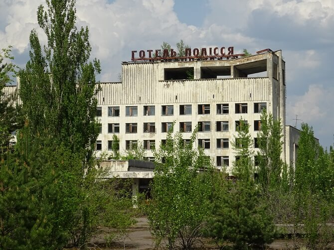 hotel Polesí v městě Pripjať