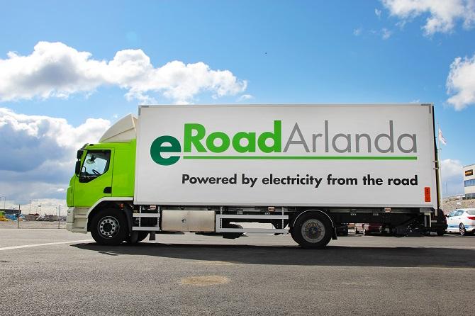 kamion společnosti eRoadArlanda