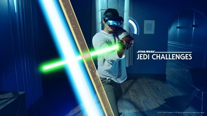 hra se světelnými meči Jedi Challenges