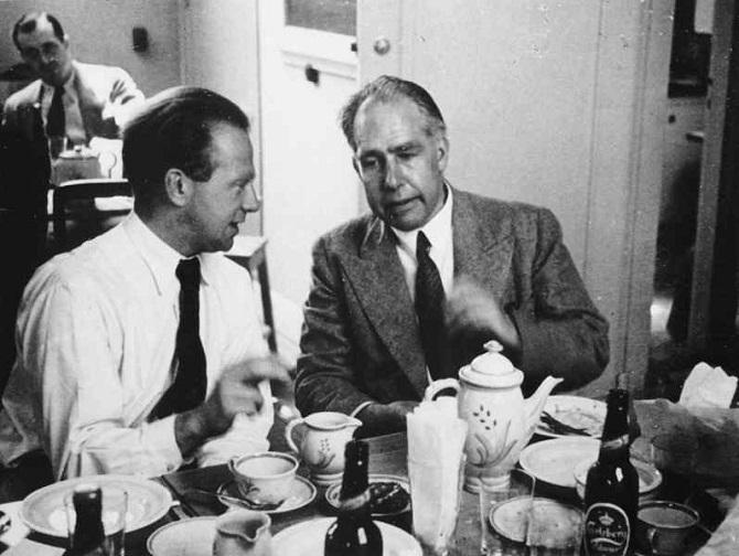 Werner Heisenberg a Niels Bohr