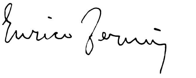 Enrico Fermi a jeho podpis