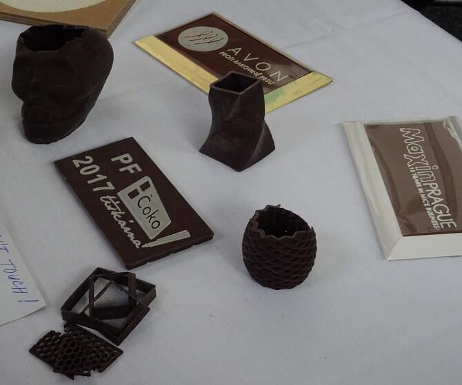 výrobky z 3D Čokotiskárny