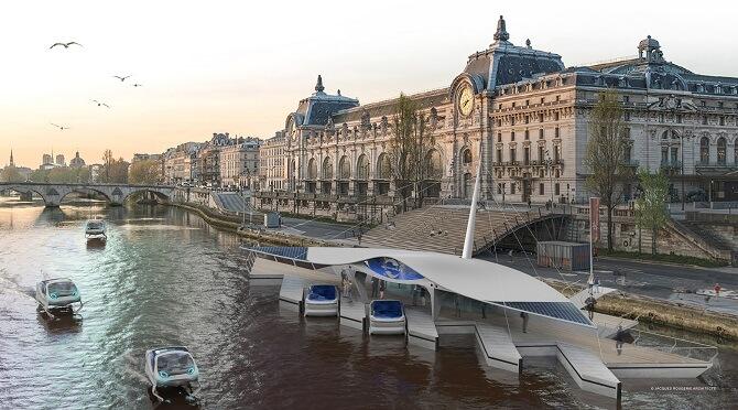 vizualizace dobíjecích stanic v Paříži