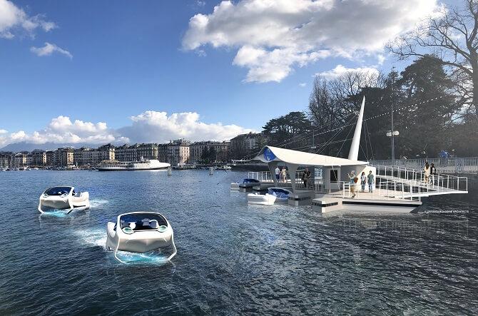 visualizace dobíjecích stanic v Ženevě