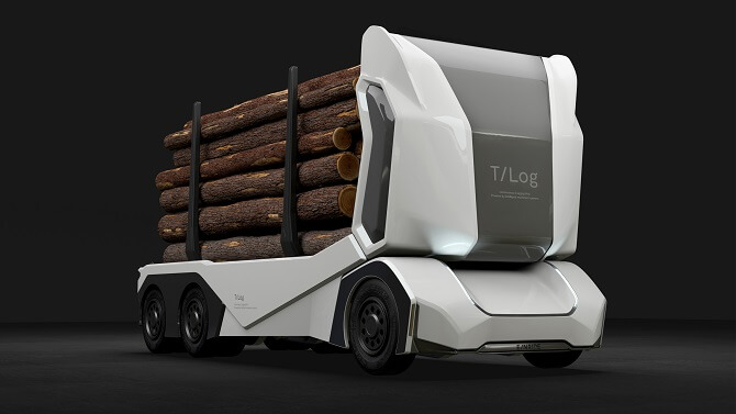 elektrický kamion T-log