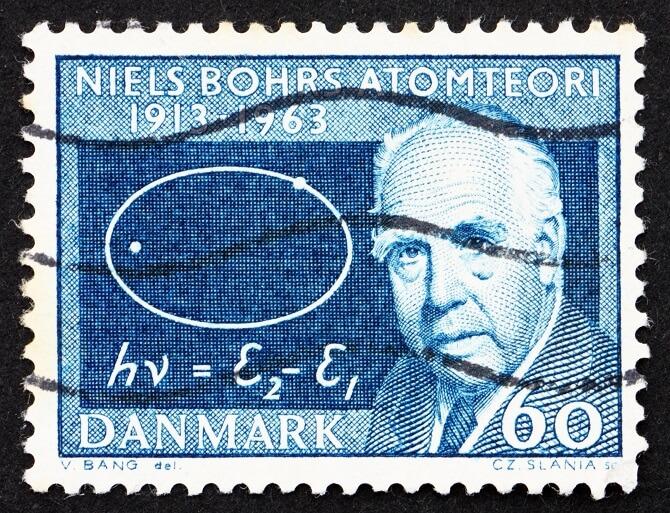 Niels Bohr za dánské známce