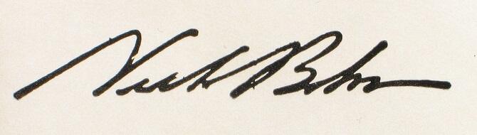 podpis Nielse Bohra