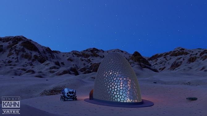 jeden z návrhů obydlí na Marsu