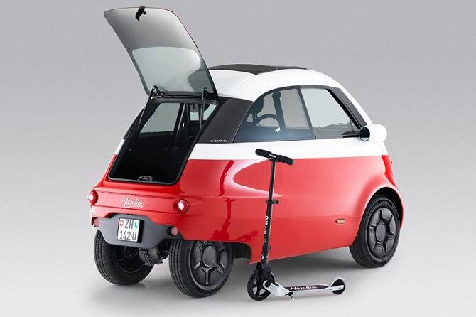 Microlino a koloběžka od Micro Mobility Systems