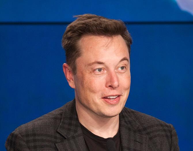 Elon Musk na tiskové konferenci SpaceX
