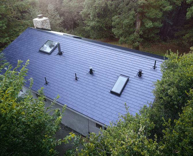 solární střecha od Tesla Inc.