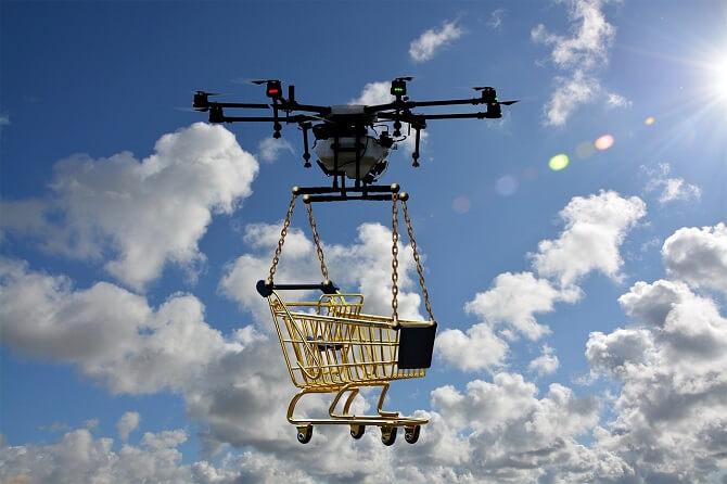 donáškový dron spadá do kategorie certifikovaných dronů