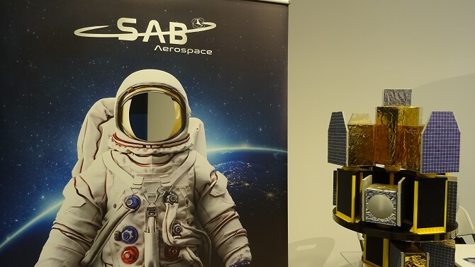 stánek SAB Aerospace na Czech Space Week 2019