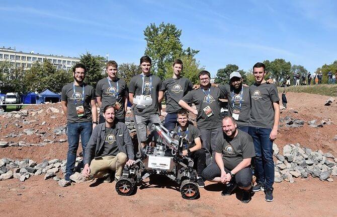 tým RoverOva na European Rover Challenge 2019
