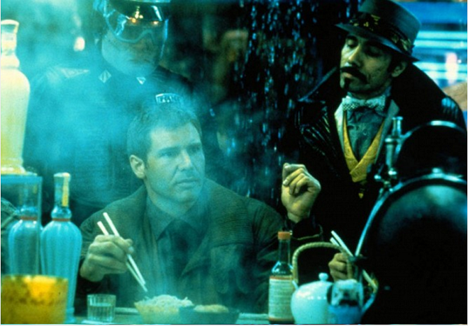 Harrison Ford v titulní roli filmu Blade Runner.