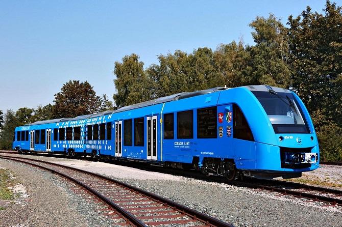 Vlak na vodíkový pohon se na první pohled neliší od běžných souprav