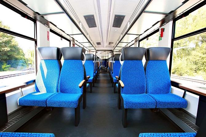 Interiér vlaku Coradia iLint.