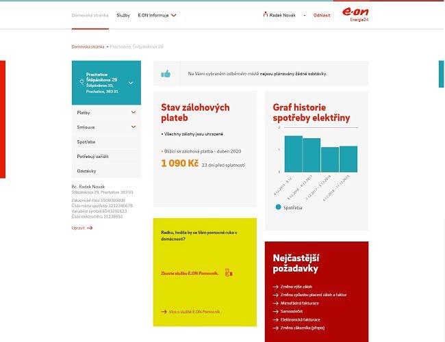 Ve webovém portálu najdete rychlý přehled spotřeby a plateb, které můžete kdykoliv zaplatit online. Vše je rychlé a intuitivní
