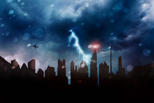 K výpadku elektřiny může dojít i vinou blesku