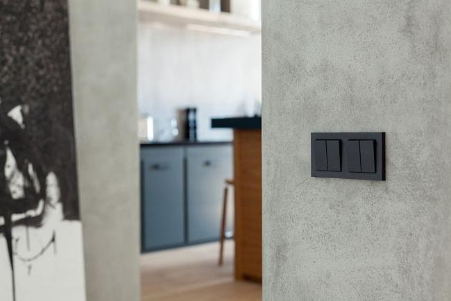 Designové vypínače mohou být zajímavým detailem.