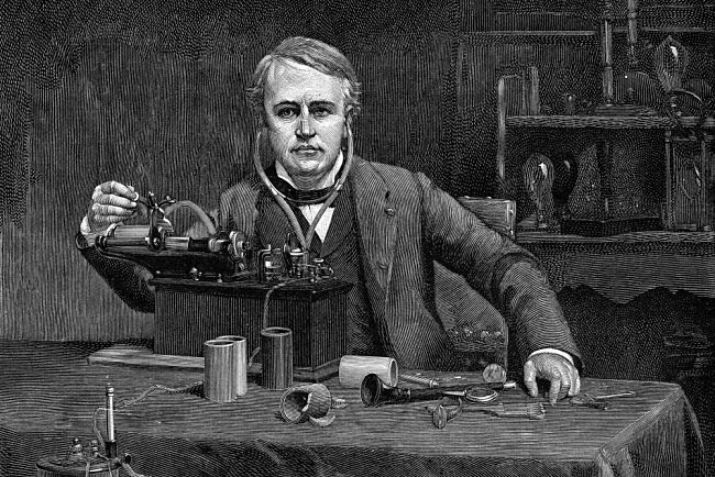 Edison se svým fonografem