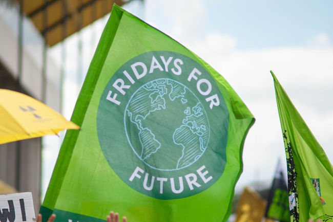 Vlajka hnutí Fridays for Future.